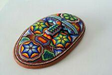 HUICHOL Beaded Mask Art Original Handmade Wixarika Psychedelic Artisan Crafts