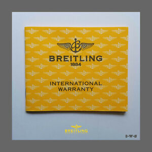 ☆ «BREITLING» BLANK FACTORY WARRANTY BOOKLET ☆