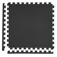 IncStores Black Foam Tiles 6 Pack Puzzle Exercise & Home Gym Flooring Mats