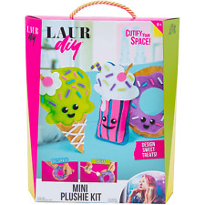 LaurDIY Mini Plushie Kit - Cutify Your Space! Design Sweet Treats! New, Unopened