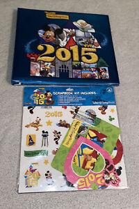 2015 Walt Disney World Scrapbook W/ Kit Includes Mickey Mouse Goofy Skellington