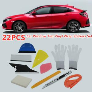 22X Car Window Tint Vinyl Wrap Stickers Set Squeegee Scraper Applicator Tool NEW