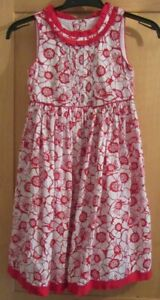 POLLY FLINDERS GIRLS AGE 7-8 YEARS RED / WHITE FLOWER DRESS