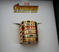 Marvel Comics Avengers Infinity War Thanos Gem 6 Ring Set New NOS Box Women's