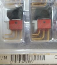 LOT OF 2 C&K E101J1AV2BE2 ROCKER SWITCH  (U3.5B1)