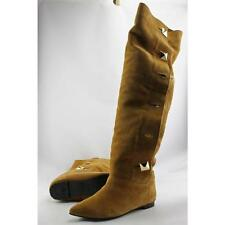 Flat (0 to 1/2 in.) Suede Over Knee Boots for Women