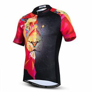 Men Cycling Jersey Short Sleeve Bicycle Motocross 3D Lion MTB Shirt Road Bike