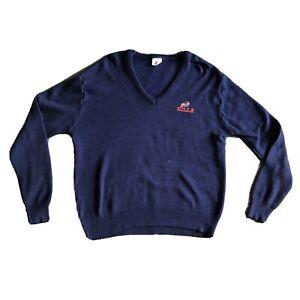 Vintage Buffalo Bills Sweater By Garan Medium Blue NFL VTG 80s 90s Football
