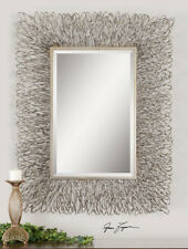 Contemporary Silver Wire Metal Wall Mirror Large 56� Modern Decor