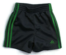 ADIDAS Boys Kids Clothes Athletic Shorts Green Gray Sz 12 Months