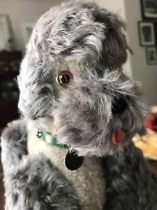 """Vintage Curly German Mohair 1950s Poodle Steiff? Anker? Bing? Medium 11"""" x 8"""""""