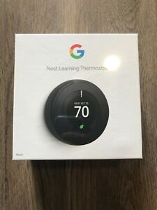 Nest 3rd Generation Learning Black Programmable Thermostat T3016US IN HAND