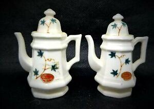 Vintage Japan Teapot Bone China Import Kettles Coffee Tea Pots White With Floral