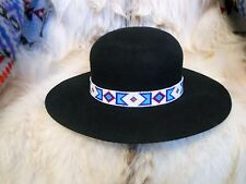 b53844246d8 BILLY JACK MOVIE REPLICA HANDLOOMED BEADED HATBAND INDIAN JOE ROUND DOME HAT