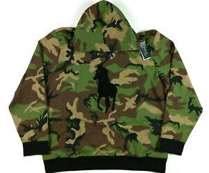 Polo Ralph Lauren Camo Chenille Big Pony Hoodie Mens 2XL Sweatshirt