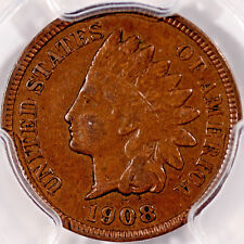 1908  Indian Cent MPD Snow-4 VF30 PCGS