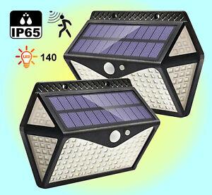 Motion Sensor Outdoor IP65 Six Sided Super Bright Solar LED Lights x 2 - XHY-140