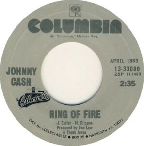 JOHNNY CASH - Ring Of Fire 7""
