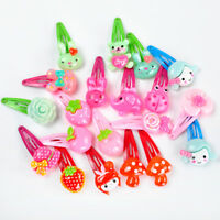 20 pcs Cartoon Mix Styles Assorted Baby Kids BB HairPin Hair Clips Girls Jewelry