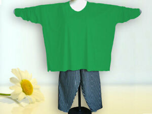 Oversized Shirt, extra lange Ärmel Gr. von 48 - 64,Jersey,Baumwolle grün