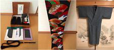 Kimono Dress Japan 5 set Geisha costume Vintage Edo Asian cute w/Obi Belt, shoes