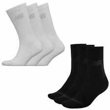 3 Pack Unisex New Balance Knitted Logo Soft Crew Socks Sizes from 3 to 12 SALE