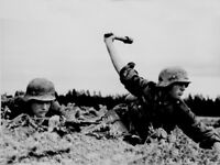 Classic World War Two Photo, German w/ Grenade WW2 WWII Wehrmacht Germany Poland