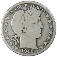 1912 D Barber Half Dollar G Good 90% Silver 50c US Type Coin Collectible