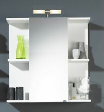 Badezimmerspiegel Spiegelschrank Badschrank Badregal Posseik 68 Cm Breit  Weiß