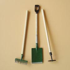 3Pcs /Lot 1:12 Dollhouse Miniature Furniture Gardening Tools Shovel Hoe Rake.Pro