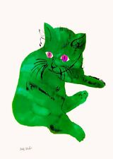 Andy Warhol 25 cats SAM green pussy book Canvas wall pop art  20 x 30 Inch A1