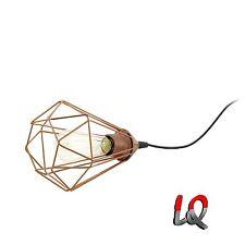 Design Lampe Leuchte Retro Vintage kupfer Tischlampe Tischleuchte Leseleuchte