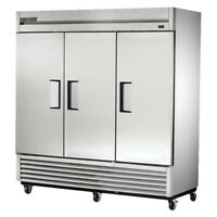 True TS-72F Stainless Reach-In Freezer, 3 Door, 72 Cu. Ft.