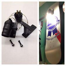 Skateboard Deck Display Wall Mount Light Fixture Hanger Floating longboard