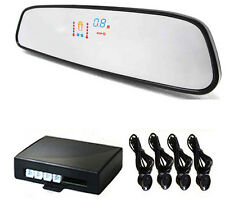 Black Car VFD Talking Reverse Parking Sensor Rear View Mirror Display Honda Brio