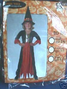 HALLOWEEN=GOTHIC WITCH=NEW IN PACK=8-10 yrs=RRP £11.99