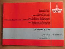 DEUTZ FAHR Ersatzteilliste Kreiselheuer KH 300 und KH300 DN Haymakers Ausg. 1979