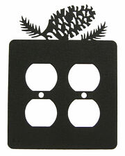 Pinecone Double Outlet Cover Plate