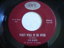 Sue Burke When Will It be Over / Mood Indigo 1966 45rpm VG++