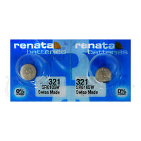 2 x Renata 321 Silver oxide batteries 1.55V SR616W Watch SR65 EXP:2019