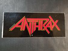 Anthrax 1991 Vintage Bumper Sticker Heavy Metal Thrash Metal Metallica Megadeth