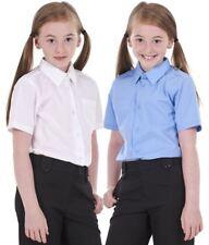 Girls 2 PACK BHS Regular Fit Non Iron Short Sleeve School Shirt