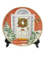 """""""Christmas Wreath� David C Webster 1991 Limited Edition Plate #F 6452"""