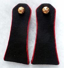 Epaulettes anciennes Tradition ARTILLERIE liseré rouge WWII INDO  pattes épaule