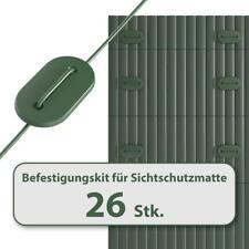 HOMELUX Befestigungskit für Sichtschutzmatte Windschutz Balkonverkleidung GRÜN
