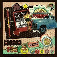 6 Servietten Napkins Oldtimer - Lady - Fahrzeuge - Pin up Girl - Auto - fz028