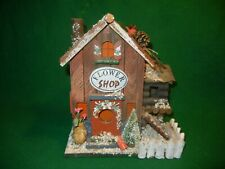 Christmas decoration wooden Flower Shop house display