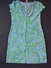 NWT LILLY PULITZER by XXS Shift Dress Aqua Green Pom Pom
