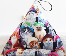 CATS KITTENS IN HATS resting cushion pillow for iPad Kindle Tablet beanbag stand