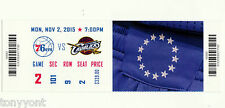 LeBron James 25,000 Career Points 11/2/15 Unused Ticket Cavs vs 76ers MINT RARE!